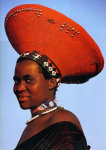 Traditional Zulu bride