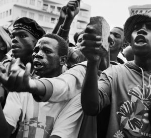 Protest against Chris Hani's assassination, 1993