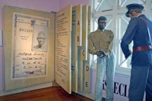 A giant pass-book replica at the KwaMuhle Museum