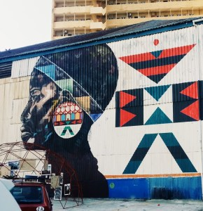 A mural in Rivertown, Durban