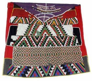Married woman's Ibhayi, Izikhambathi design, 1950s, Nongoma, Kwazulu-Natal