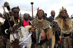 Chief Mangosuthu Buthelezi, King Goodwill Zwelithini and President Jacob Zuma