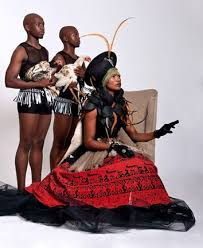 Zulu, Qwabe & Nozinja as portrayed in the dance performance, 'uZulu noQwabe'