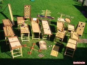 Jeux en bois déambule fête de la Bugne