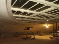 View from just below laylight toward M on Ceiling
