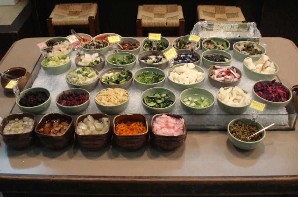Encurtidos ctricos aromticos y verduras de Japn
