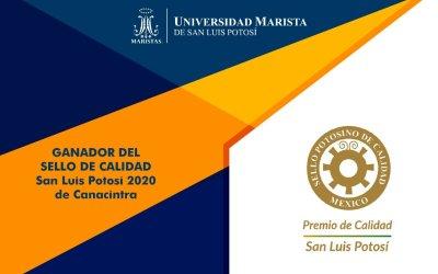 Universidad Marista de SLP obtiene Sello de Calidad San Luis Potosí 2020