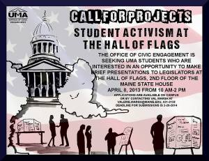 Student Activism at the Hall of Flags -- here is your opportunity, UMA students!