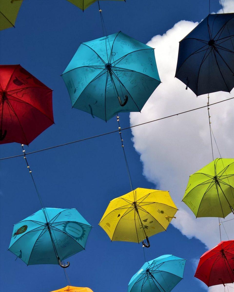 Umbrellas close up