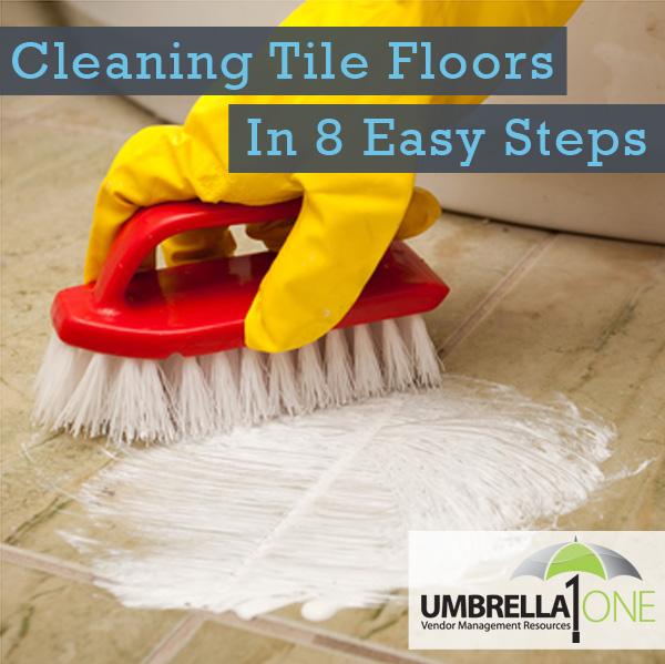 to clean tile floors in 8 simple steps