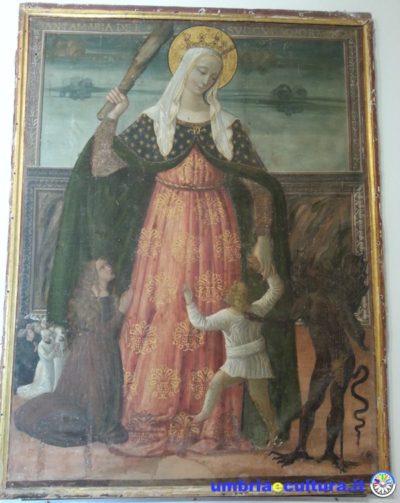 madonna del soccorso montefalco san francesco museum