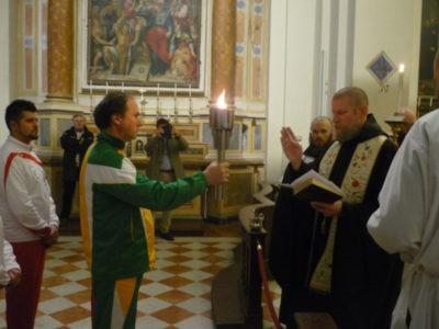 benedizione Fiaccola norcia marzo benedettino