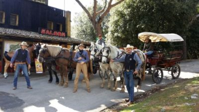 cowboy e carrozze