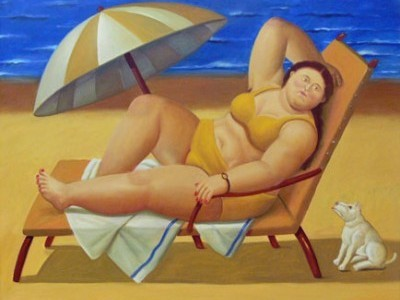obesità botero grasso bikini blues
