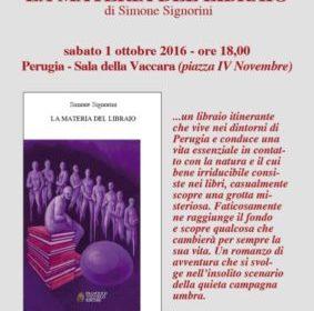 """Perugia: presentazione libro """"La materia del libraio"""""""
