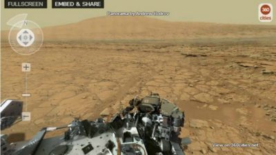 Spazio, street view di Curiosity su Marte svela panorama familiare