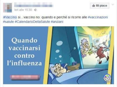 social vaccini influenza