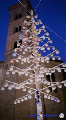 deruta albero di natale ceramica