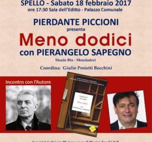 """Spello, Passaparola: è la volta di """"Meno Dodici"""" di Pierdante Piccioni"""