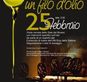 L'olio si racconta al museo dell'olio di Castelnuovo di Farfa (RI)