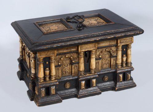 scatola in legno ebanizzato