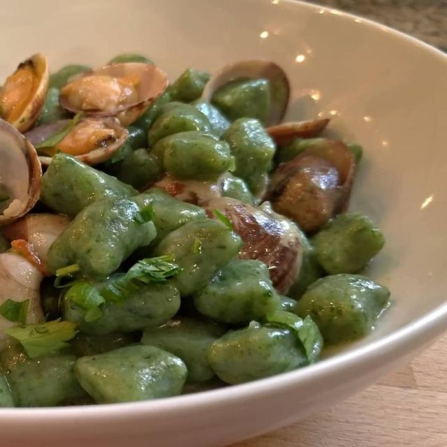 gnocchetti verdi alle vongole