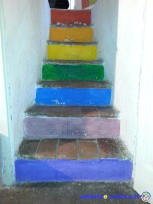 la casa dipinta scale