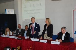 Da sinistra Elisa Moretti, Gabriele De Micheli, Marco Arcelli, Corrado Clini, Lorena Pesaresi, Franco Cotana