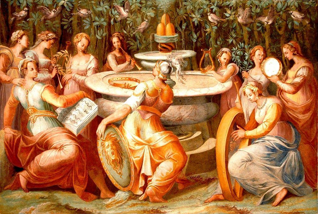 """Affresco del Pomarancio """"Concerto delle Muse"""""""