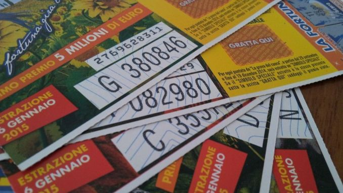 Lotteria Italia, in Umbria 250 mila euro