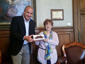 Eugenio Guarducci e Prefetto De Miro, incontro mentre Eurochocolate si avvicina