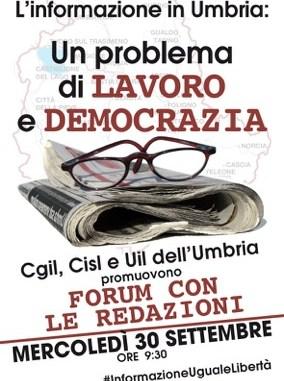 Crisi informazione in Umbria, incontro scuola giornalismo Perugia