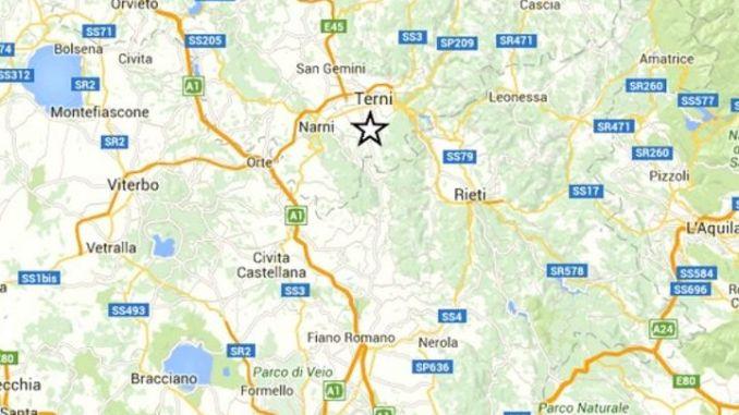 Terremoto di 2.2 nel ternano, nessun danno