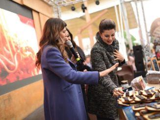 Susanna Messaggio, Emanuela Folliero e Alba Parietti ospiti di Eurochocolate