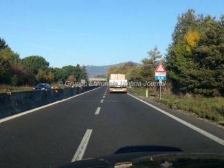 Cantiere stradale su Centrale Umbra ed E45, rifacimento manto stradale