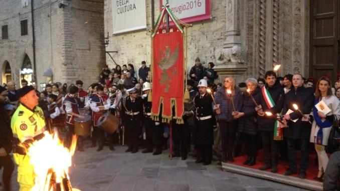 Anche Perugia 1416 alla luminaria di San Costanzo