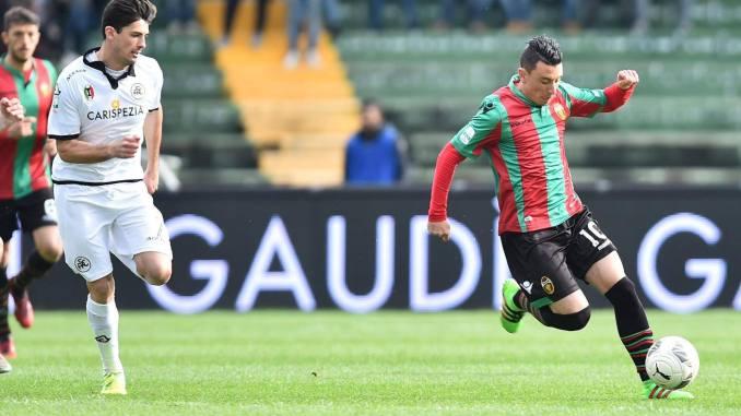 Ternana-Spezia 1-2: gol rossoverde di Ceravolo al 20' del st