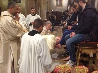 Cardinale Bassetti alla celebrazione della Coena Domini