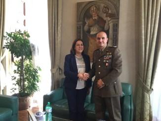 Presidente Marini riceve colonnello Fasciano, nuovo comandante dell'esercito