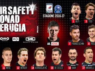 Volley, Sir Safety, ufficializzato il roster nuova stagione