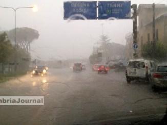 Maltempo Umbria, venerdì 16 settembre allerta meteo per l'intera giornata