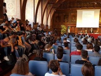 Sala dei Notari gremita per il dibattito sulla riforma della Costituzione