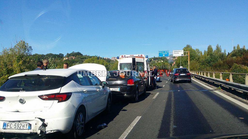 Riaperta al traffico la carreggiata direzione Ponte San Giovanni, sul Raccordo