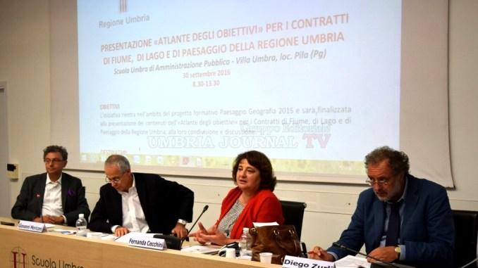 Presentato progetto Atlante per contratti fiume, lago e paesaggio Umbria