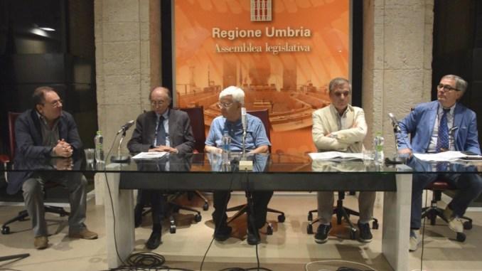 Da sinistra Gianfranco Chiacchieroni, Achille Maria Ippoliti, Franco Zagari, Marsilio Marinelli, Marco Galli