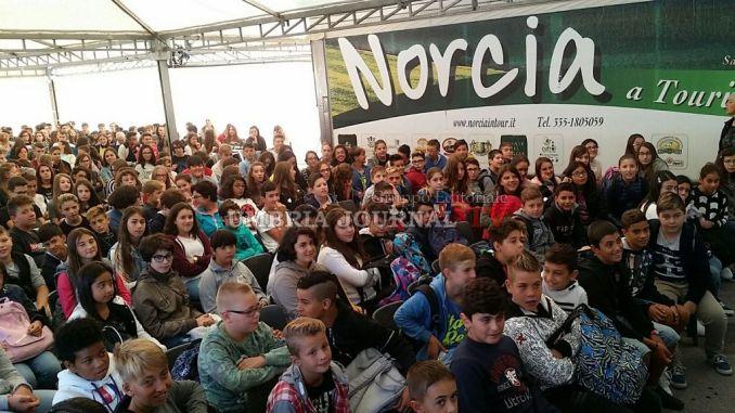 Terremoto Umbria, a Norcia inaugurazione dell'anno scolastico 2016-2017