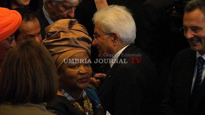 Spirito di Assisi, Presidente Sergio Mattarella è arrivato al Teatro Lyrick