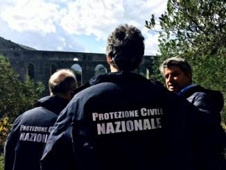 Ponte Delle Torri Spoleto, terremoto, sopralluogo protezione civile