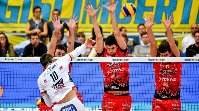 La Diatec Trentino batte Sir Safety Conad Perugia per 3 a 1 in SuperLega Volley