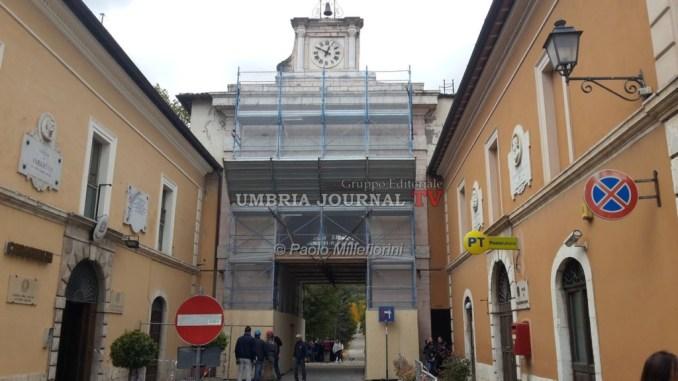 Riaperta Porta Romana a Norcia, si rientra a casa dall'ingresso principale